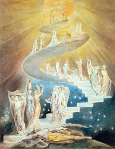 Jacob's Ladder by William Blake, sort of how I try (not) to imagine redemption