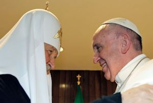 Patriarch Kirill and Pope Francis